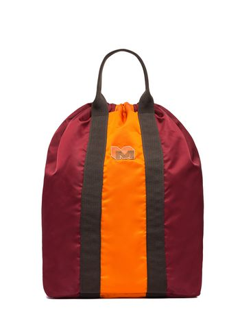 Marni Backpack-shopping bag in orange nylon Man