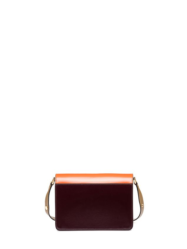 Marni TRUNK bag in calfskin orange Woman