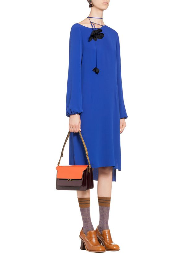 Marni TRUNK bag in calfskin orange Woman - 5