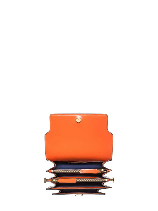 Marni TRUNK bag in calfskin orange Woman - 4