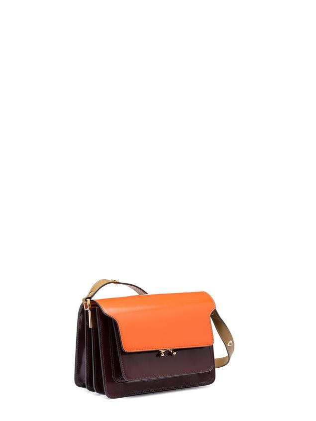 Marni TRUNK bag in calfskin orange Woman - 2