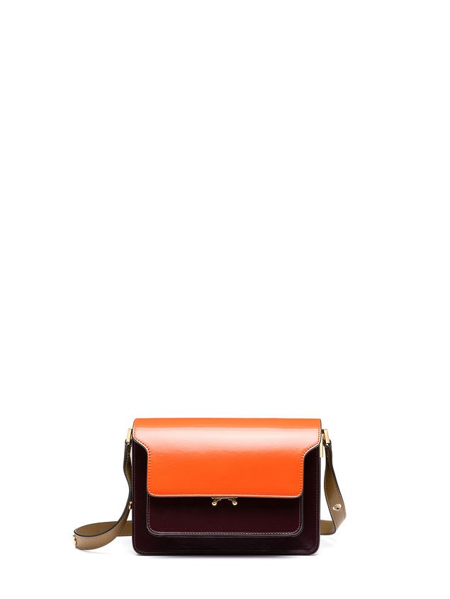 Marni TRUNK bag in calfskin orange Woman - 1