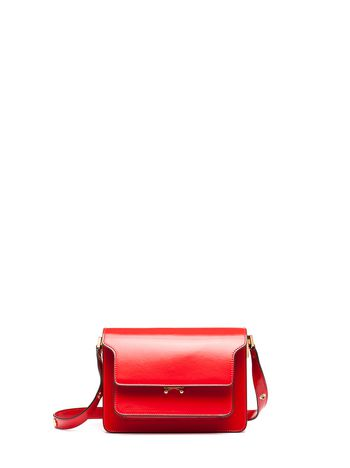 Marni TRUNK bag in calfskin red Woman
