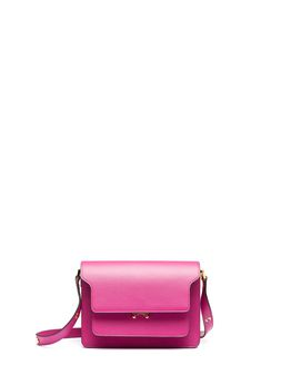 Marni Fuchsia Saffiano leather TRUNK bag Woman