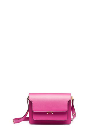 Marni TRUNK bag in saffiano fuxia Woman