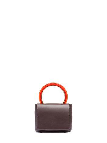 Marni Burgundy calfskin PANNIER bag Woman