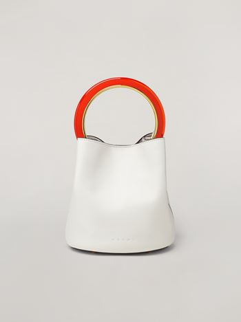Marni PANNIER bag in calfskin white Woman f