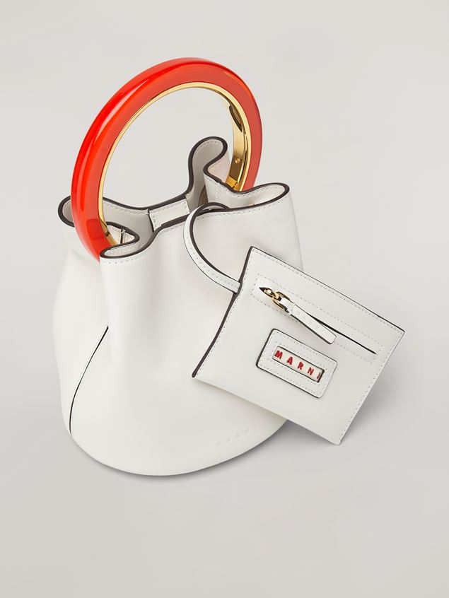 Marni White calfskin PANNIER bag Woman - 4