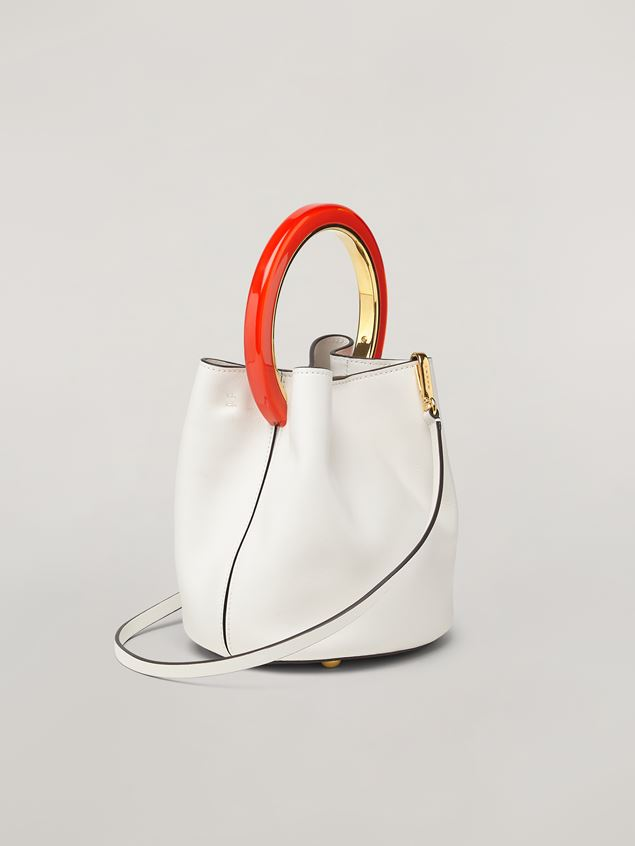 Marni White calfskin PANNIER bag Woman - 3