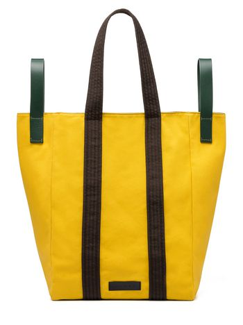 Marni Borsa shopping in canvas giallo Uomo
