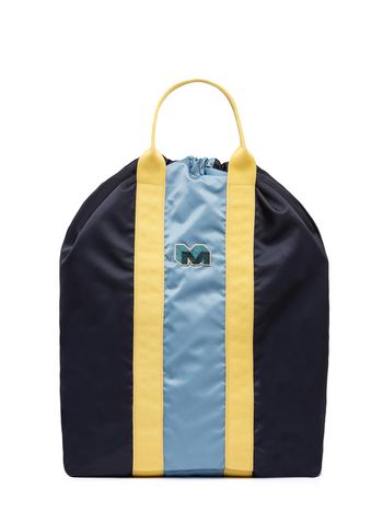 Marni Backpack-shopping bag in blue nylon Man
