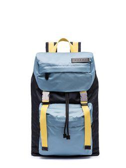 Marni Backpack in blue nylon Man