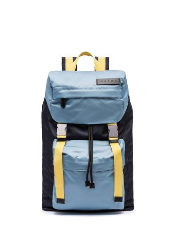 Marni Backpack in blue nylon Man