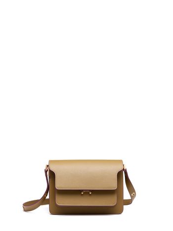 Marni TRUNK bag in saffiano green Woman