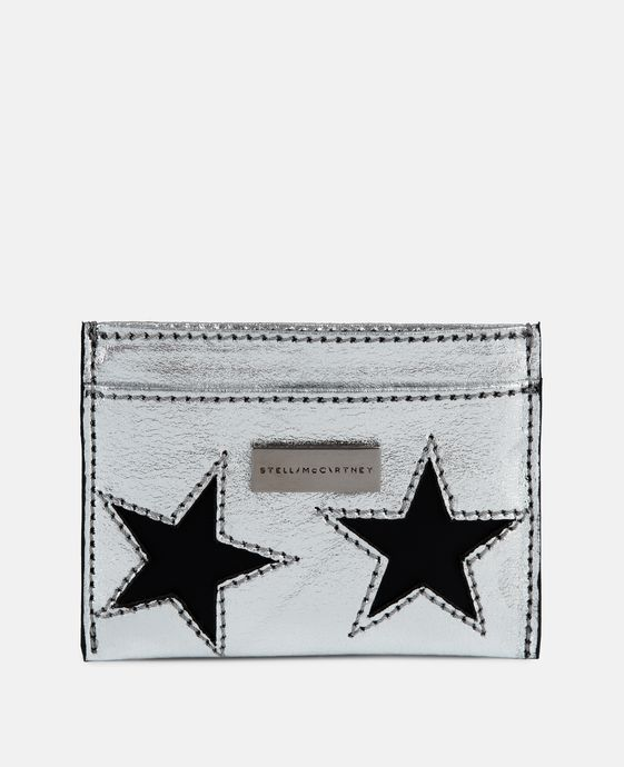 Metallic Stars Card Case