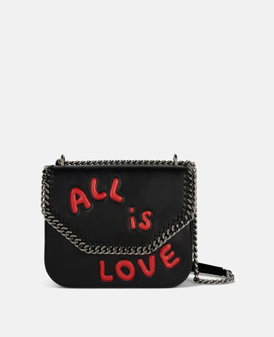 Schultertasche Falabella Box All Is Love