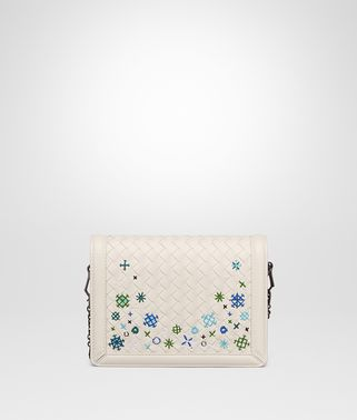 POCHETTE MINI MONTEBELLO IN INTRECCIATO MEADOW FLOWER MIST