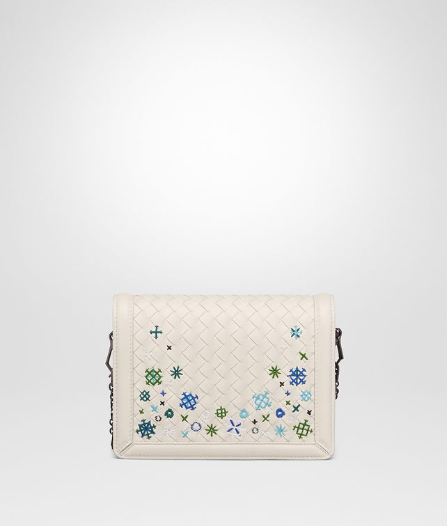BOTTEGA VENETA BORSA MINI MONTEBELLO IN INTRECCIATO MEADOW FLOWER MIST Pochette [*** pickupInStoreShipping_info ***] fp