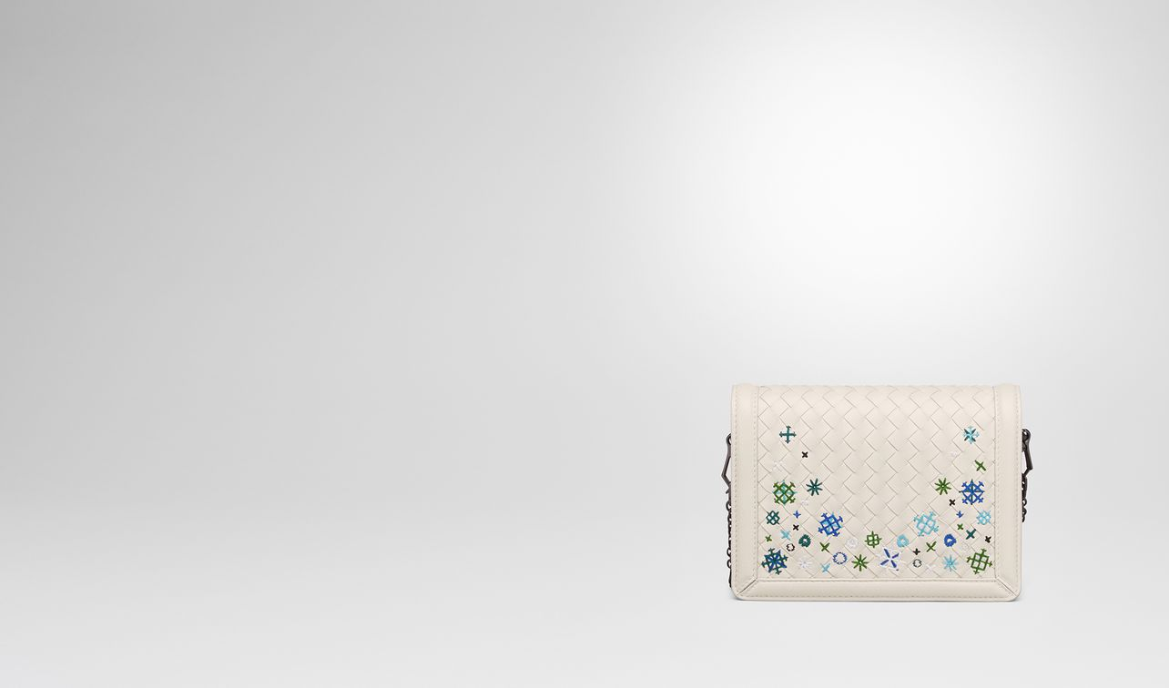 borsa mini montebello in intrecciato meadow flower mist  landing