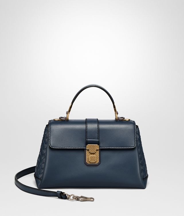 BOTTEGA VENETA DENIM CALF SMALL PIAZZA BAG Top Handle Bag [*** pickupInStoreShippingNotGuaranteed_info ***] fp