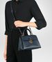 BOTTEGA VENETA DENIM CALF SMALL PIAZZA BAG Top Handle Bag Woman lp