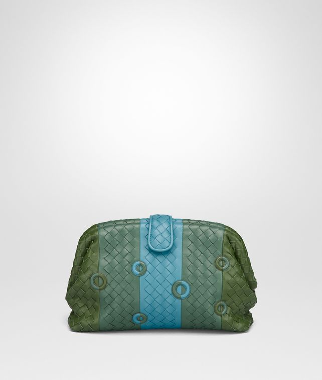BOTTEGA VENETA THE LAUREN 1980 CLUTCH AUS NAPPA IN IVY Clutch Damen fp