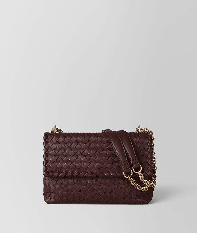 BOTTEGA VENETA BORSA OLIMPIA PICCOLA IN INTRECCIATO NAPPA BAROLO SCURO Shoulder Bag [*** pickupInStoreShipping_info ***] fp