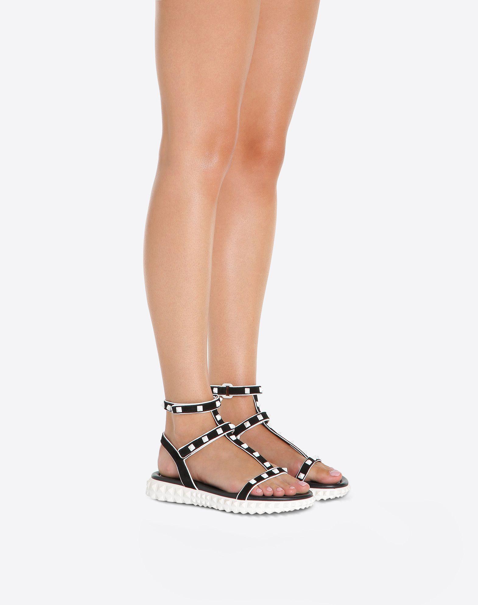 VALENTINO GARAVANI Free Rockstud flat Sandal FLAT SANDALS D a