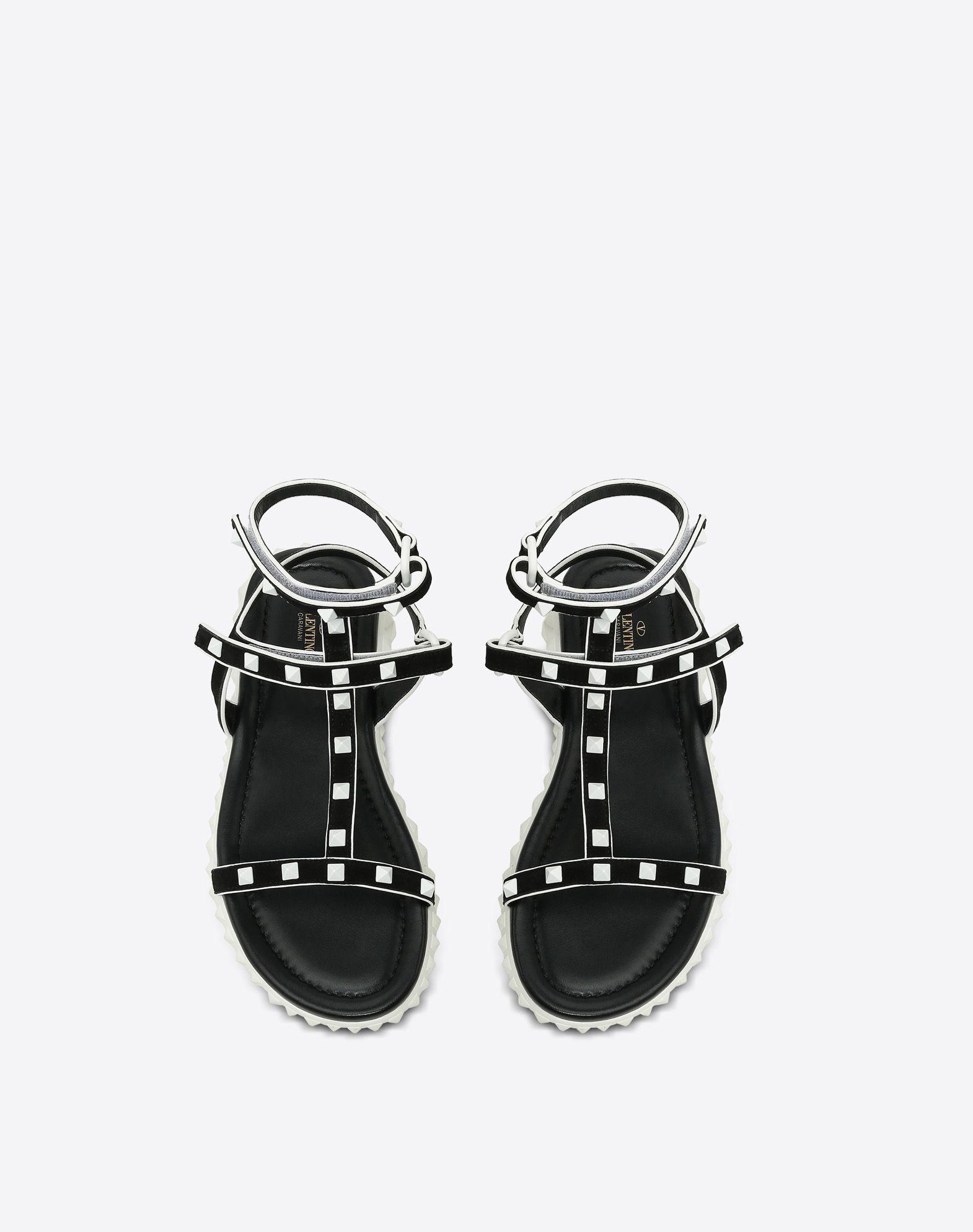 VALENTINO GARAVANI Free Rockstud flat Sandal FLAT SANDALS D e
