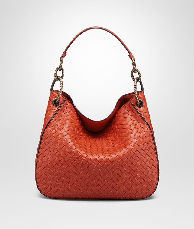 BOTTEGA VENETA TERRACOTTA INTRECCIATO NAPPA SMALL LOOP BAG Shoulder Bag Woman fp