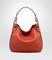 BOTTEGA VENETA TERRACOTTA INTRECCIATO NAPPA SMALL LOOP BAG Shoulder or hobo bag D fp