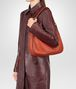 BOTTEGA VENETA TERRACOTTA INTRECCIATO NAPPA SMALL LOOP BAG Shoulder or hobo bag D lp
