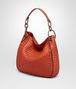 BOTTEGA VENETA TERRACOTTA INTRECCIATO NAPPA SMALL LOOP BAG Shoulder Bag Woman rp