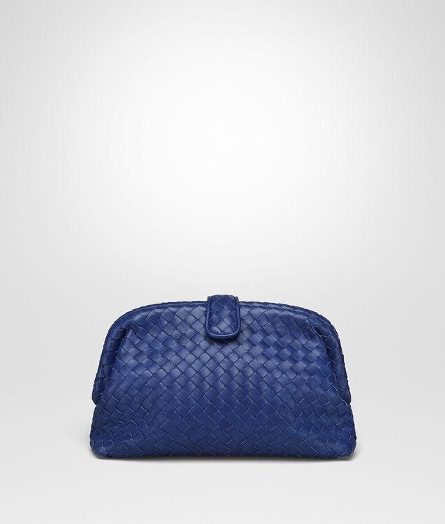 BOTTEGA VENETA CLUTCH THE LAUREN 1980 IN INTRECCIATO NAPPA COBALT BLUE Pochette Donna fp