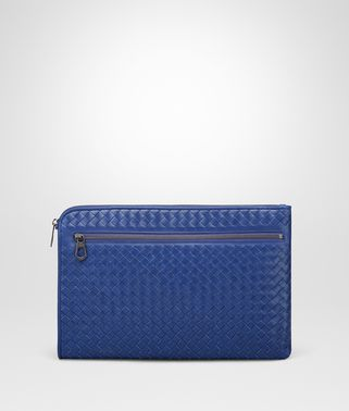 COBALT BLUE INTRECCIATO DOCUMENT CASE