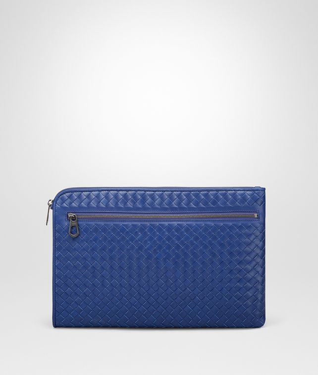 BOTTEGA VENETA COBALT BLUE INTRECCIATO DOCUMENT CASE Document case Man fp