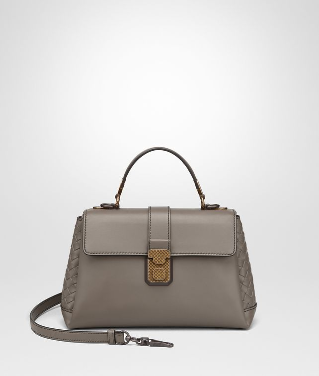BOTTEGA VENETA BORSA PIAZZA PICCOLA IN VITELLO STEEL Borsa a Mano Donna fp