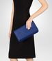 BOTTEGA VENETA COBALT INTRECCIATO NAPPA MEDIUM CLUTCH Clutch Woman ap