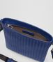 BOTTEGA VENETA COBALT BLUE INTRECCIATO SMALL MESSENGER BAG Messenger Bag Man dp