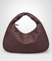 dark barolo intrecciato nappa large veneta bag Front Portrait