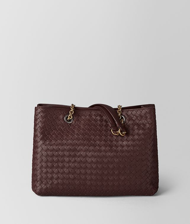 BOTTEGA VENETA DARK BAROLO INTRECCIATO NAPPA MEDIUM TOTE BAG Tote Bag [*** pickupInStoreShipping_info ***] fp