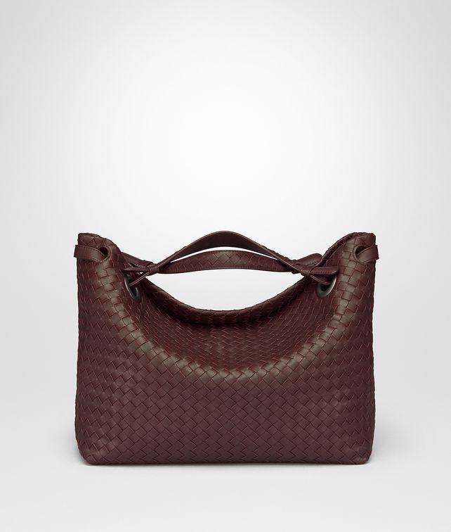 BOTTEGA VENETA DARK BAROLO INTRECCIATO NAPPA MEDIUM GARDA BAG Shoulder Bag Woman fp