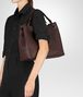 BOTTEGA VENETA DARK BAROLO INTRECCIATO NAPPA MEDIUM GARDA BAG Shoulder Bag Woman ap
