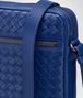 BOTTEGA VENETA COBALT BLUE INTRECCIATO MESSENGER BAG Messenger Bag Man ep