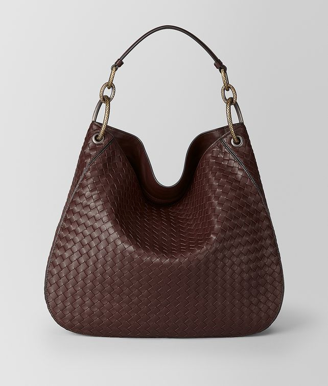 BOTTEGA VENETA DARK BAROLO INTRECCIATO NAPPA HOBO BAG Hobo Bag Woman fp
