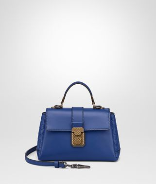 COBALT CALF MINI PIAZZA BAG