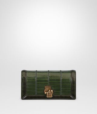 IVY DARK MOSS ELAPHE SMALL KNOT CLUTCH