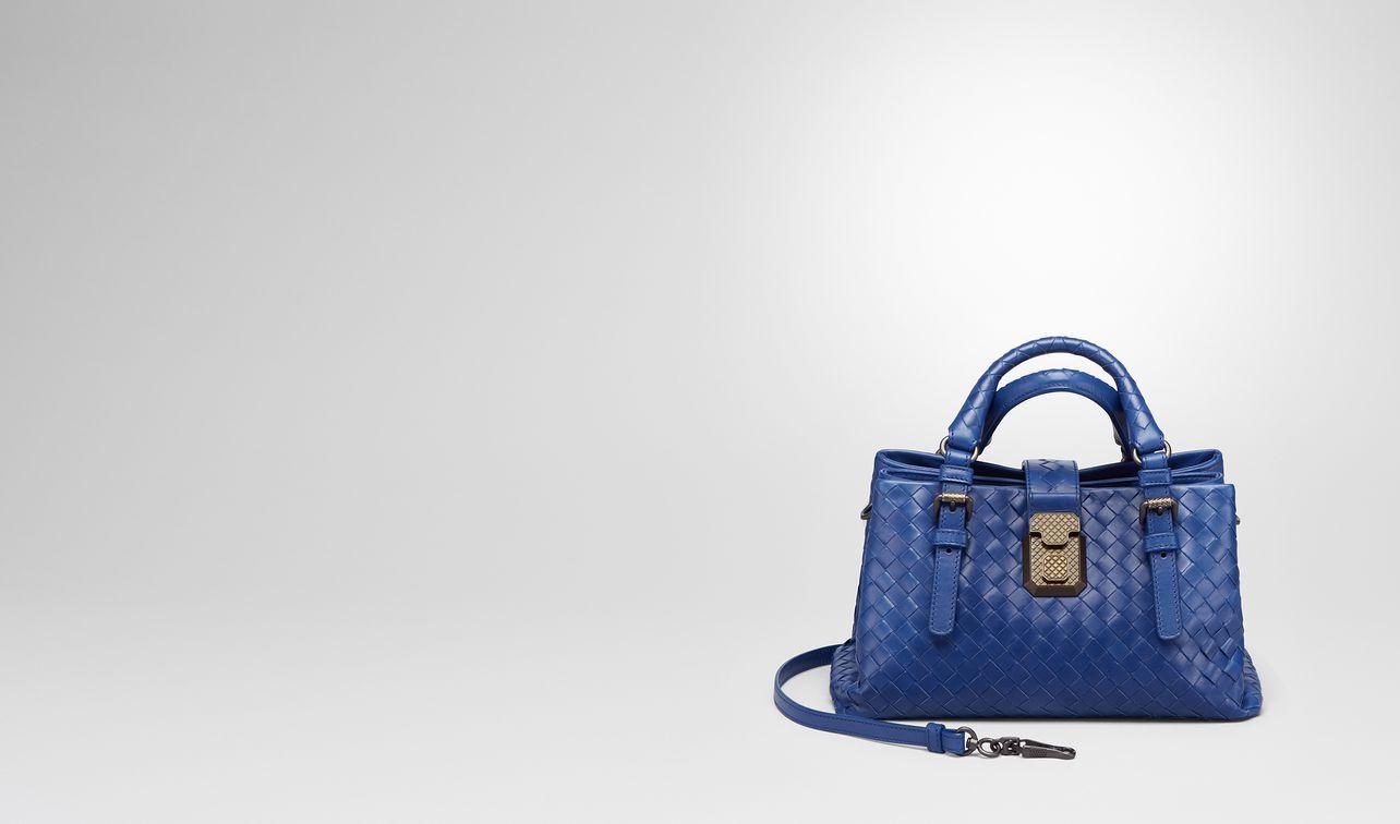 Bottega Veneta Bleu Cobalt Bébé Veau Tressé Roma Sac Bleu De Cobalt Boutique Pas Cher Meilleur Endroit De Réduction AzmvH