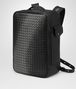 BOTTEGA VENETA NERO NAPPA GALAXY BRICK BACKPACK Messenger Bag U rp