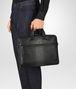 nero intrecciato nappa briefcase Front Detail Portrait